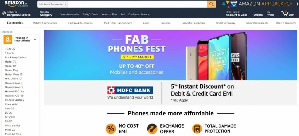 Amazon, Fab Phones Fest,India