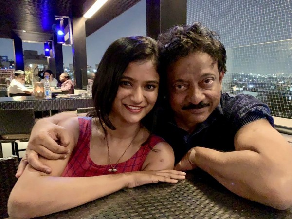 Ram Gopal Varma with his niece Shravya Varma