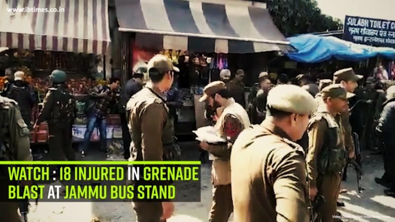Watch: 18 injured in grenade blast at Jammu bus stand