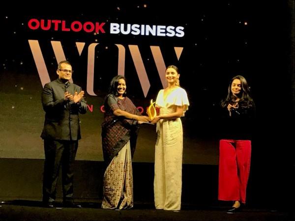 Alia Bhatt at Outlook Business WOW 2019 Awards