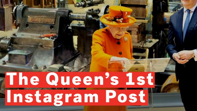 44a38b91b686 Queen Elizabeth II is millennial to the core, posts on Instagram for the  first time