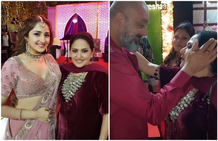 Sanjay Dutt at Arya and Sayyeshaa's wedding