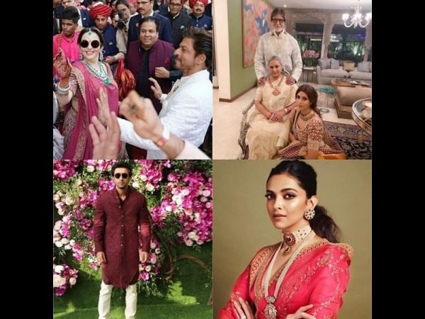 Bollywood stars at Akash Ambani Shloka Mehta wedding