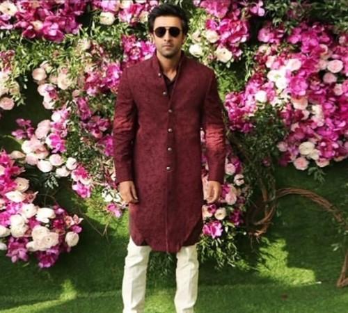 Ranbir Kapoor at the Akash Ambani Shloka Mehta wedding