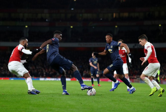 Manchester United Arsenal Paul Pogba Anthony Martial