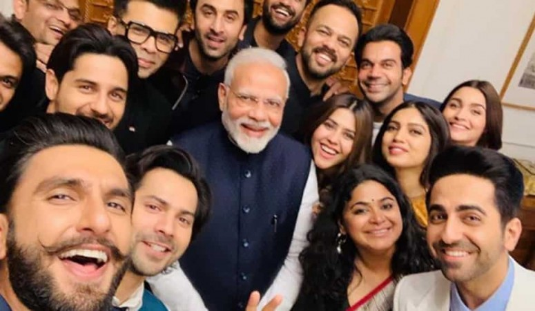 Narendra Modi with Bollywood celebs