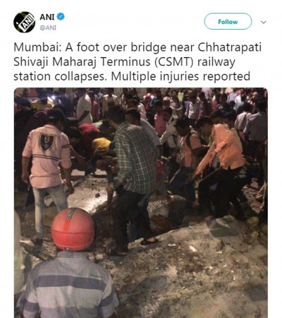 Mumbai, Footover bridge, CSMT
