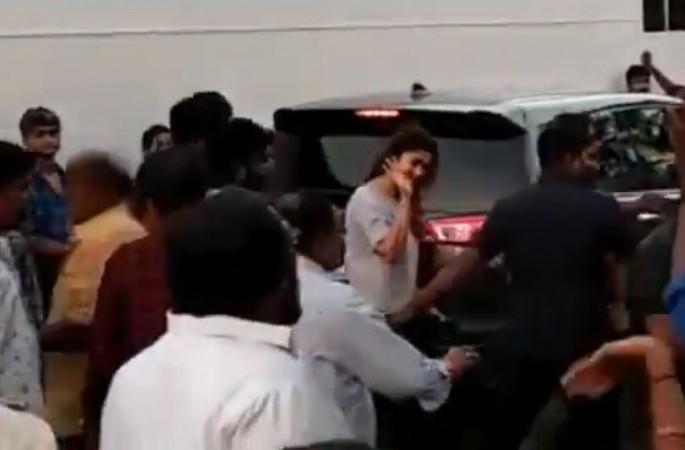 Nayanthara on the sets of Vijay's Thalapathy 63
