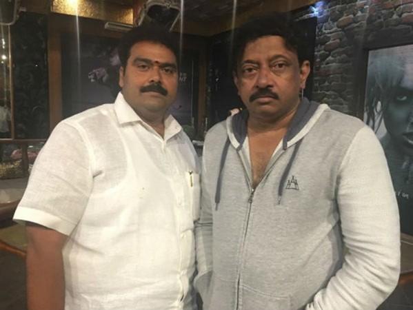 Producer Rakesh Reddy with Ram Gopal Varma