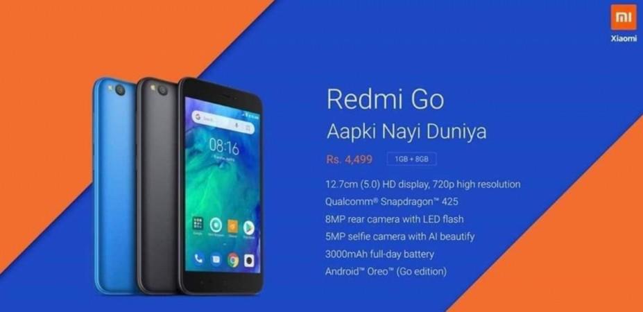 Xiaomi, Redmi Go, Android, specs, India,launch, price