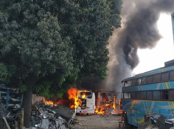 Shindewadi bus garage fire