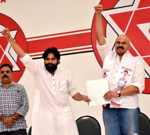 Pawan Kalyan inducts his brother Nagababu in to Jana Sena party
