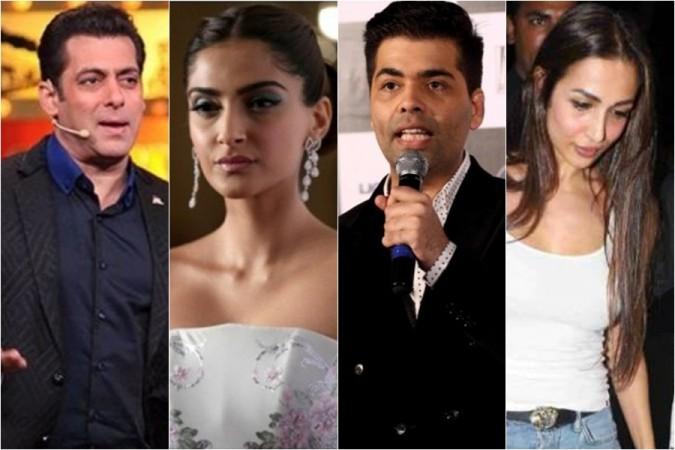 Salman Khan, Sonam Kapoor, Karan Johar, Malaika Arora