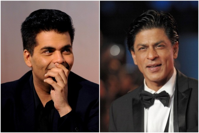 Shah Rukh Khan reacts to Karan Johar's Twitter gaffe