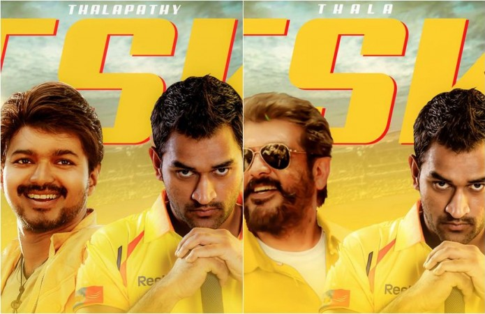 Vijay and Ajith fans extend support for CSK