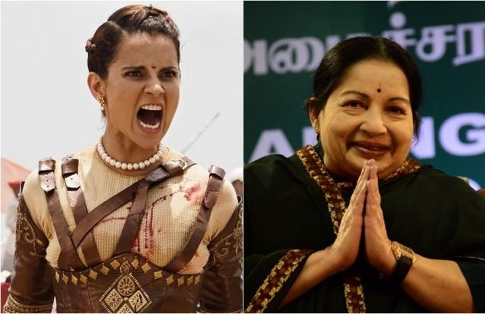 Kangana Ranaut and J Jayalalithaa