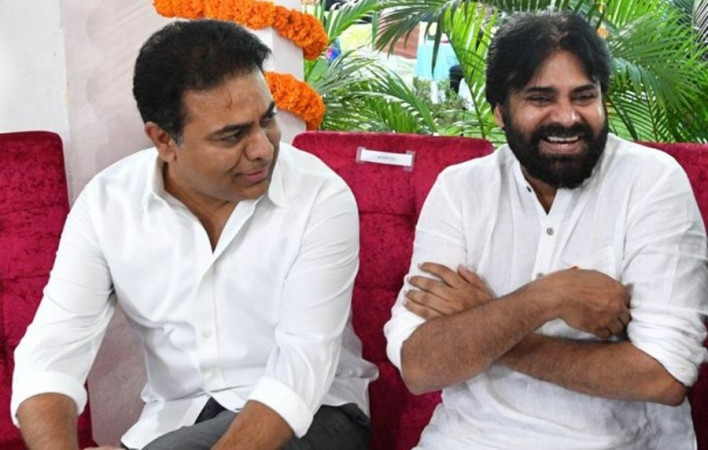 Pawan Kalyan with KTR
