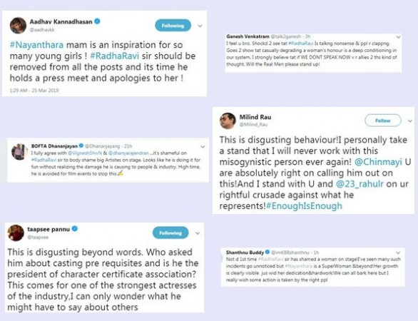 Here is How Celebs Reacted to Radha Ravi's Comment