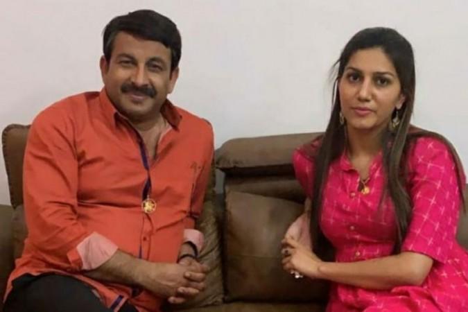 Manoj Tiwari and Sapna Choudhary