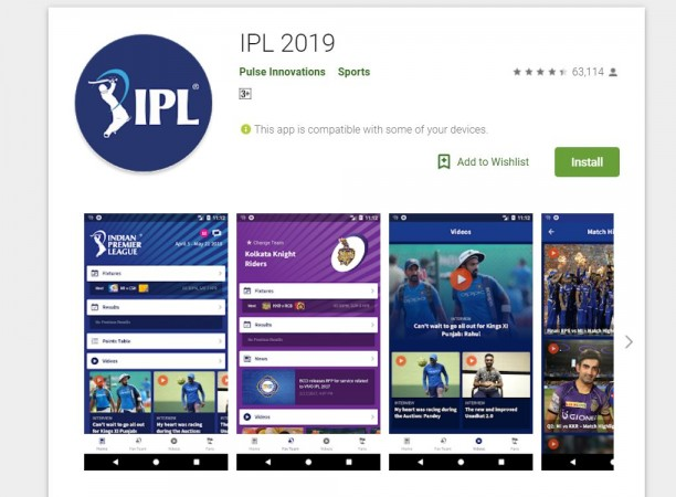 Vivo IPL 2019: Top 5 cricket apps to get live score, wickets, team