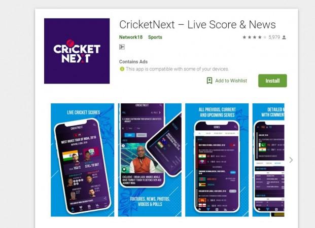 CricketNext, mobile, app