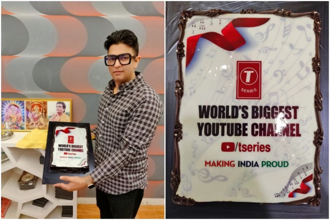 Bhushan Kumar and team celebrate as T-Series becomes No  1