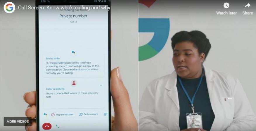 Google, Call Screen, feature