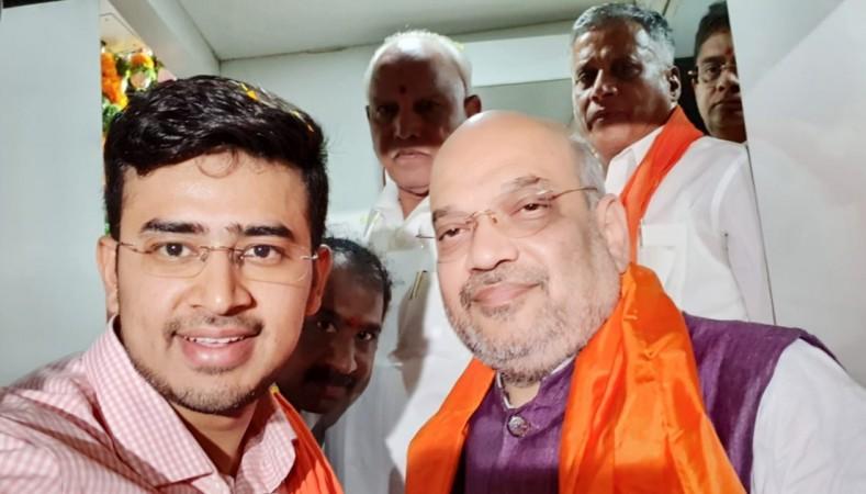 Tejasvi Surya and Amit Shah