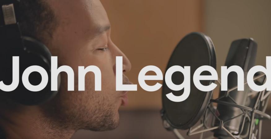 John Legend recording for Google Assistant voice