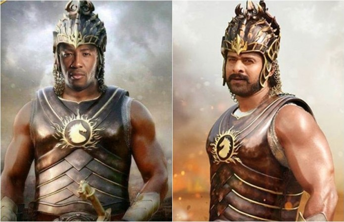 Andre Russell and Prabhas