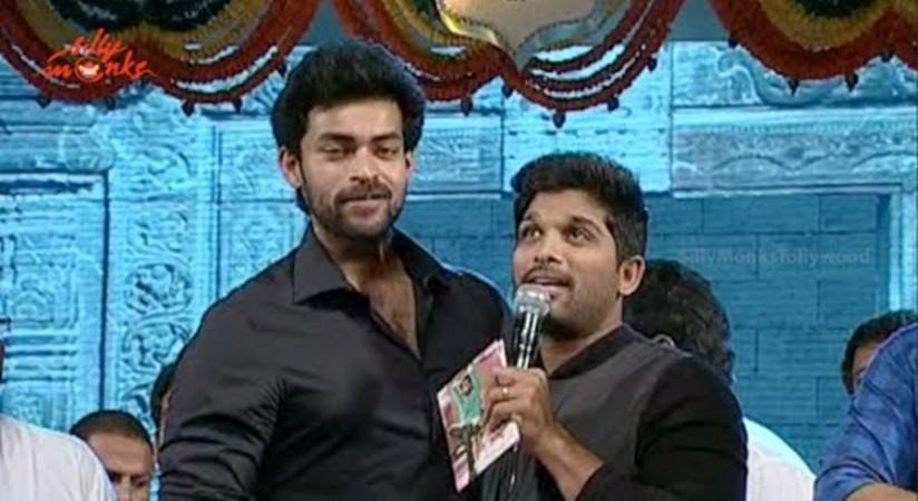 Varun Tej with Allu Arjun