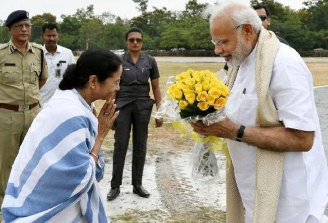 Mamata Banerjee with Narendra Modi