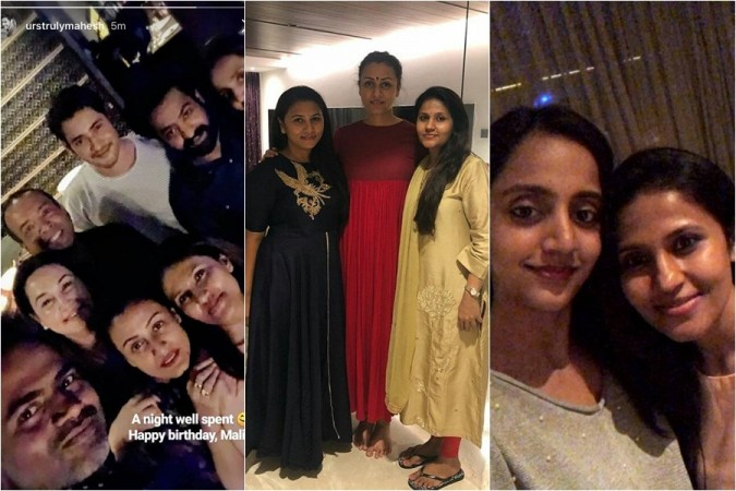 Mahesh Babu and Junior at Vamsi Paidipally's wife Malini birthday party