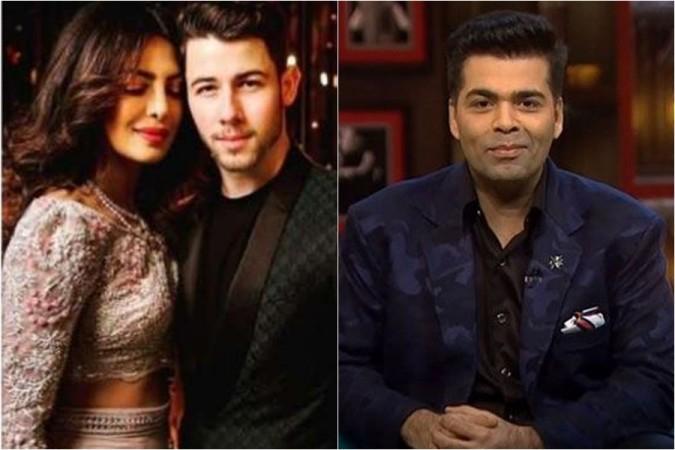 Priyanka Chopra, Nick Jonas, Karan Johar