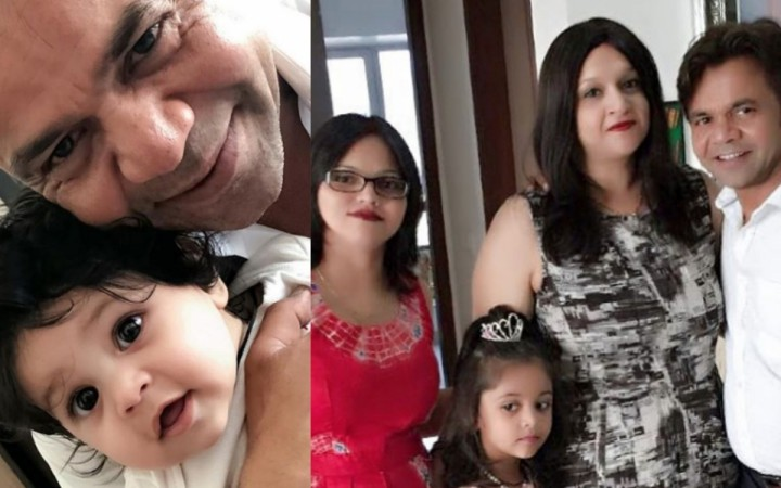 Rajpal Yadav with his daughters and wife Radha