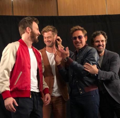 Mark Ruffalo with the Avengers