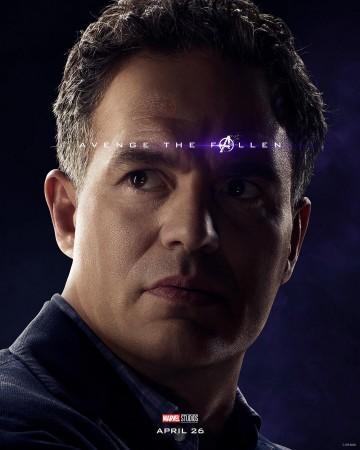 Mark Rufallo in the Avengers: Endgame poster
