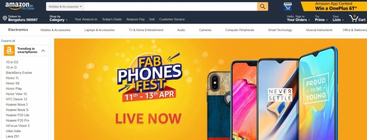 Amazon, Fab Phones Fest, OnePlus, iPhone X