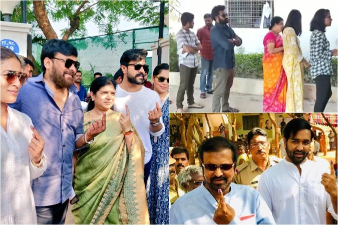 Tollywood Celebs cast vote in Lok Sabha Elections 2019