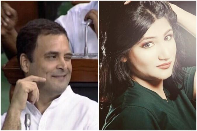 Mahika Sharma post on Rahul Gandhi
