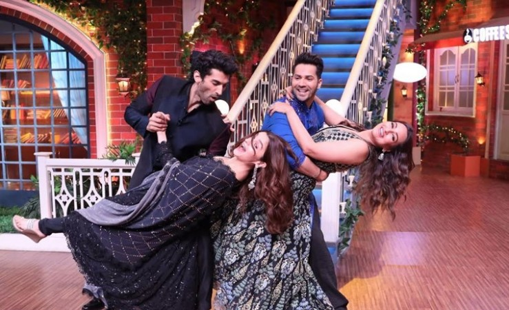 Varun Dhawan, Sonakshi Sinha, Alia Bhatt and Aditya Roy Kapur dance on The Kapil Sharma Show