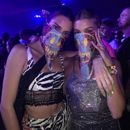 Kendall Jenner and Hailey Baldwin at Coachella 2019