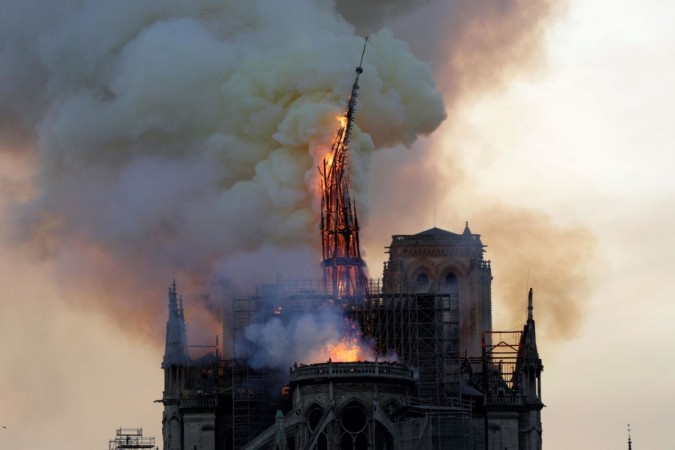 Notre Dame cathedral spire