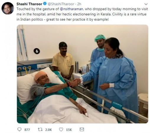 shashi tharoor tweet 1