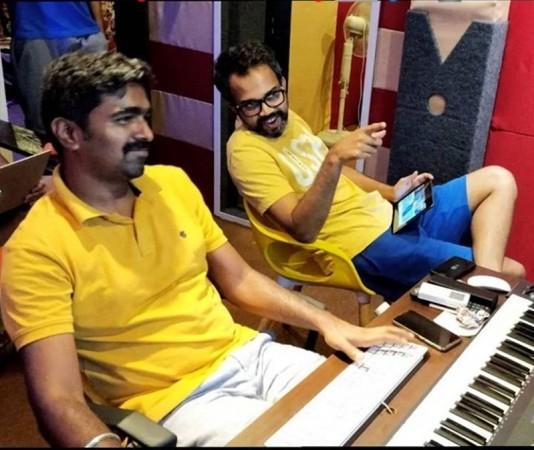 Ravi Basrur with Prashanth Neel