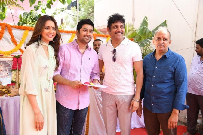 Manmadhudu 2 movie launch