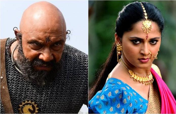 Sathyaraj and Anushka Shetty