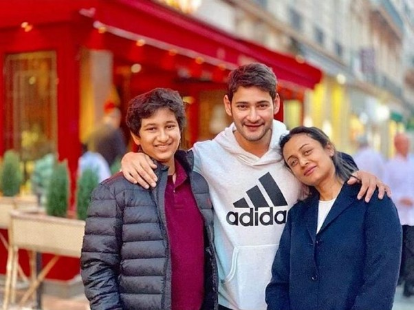 Mahesh Babu with his wife Namrata Shirodkar and son Gautham in Paris