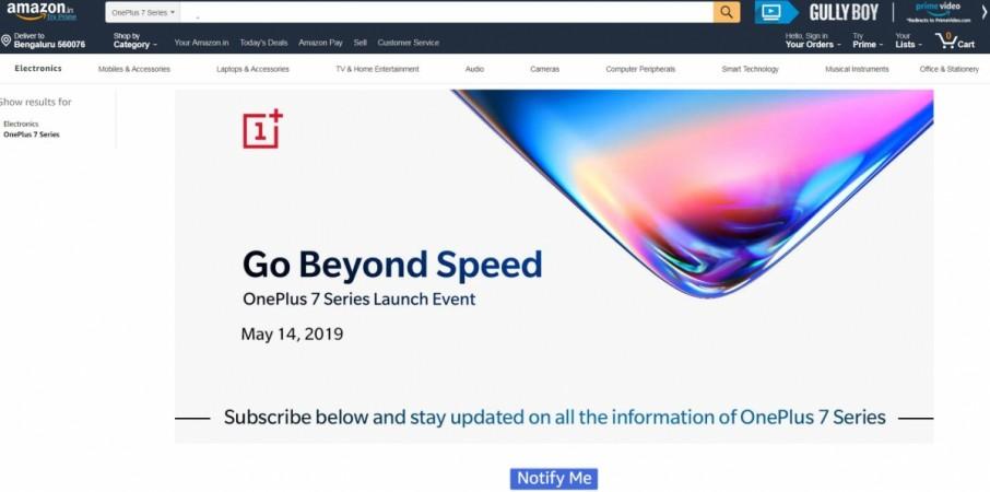 OnePlus 7, Amazon, India, Notify me,