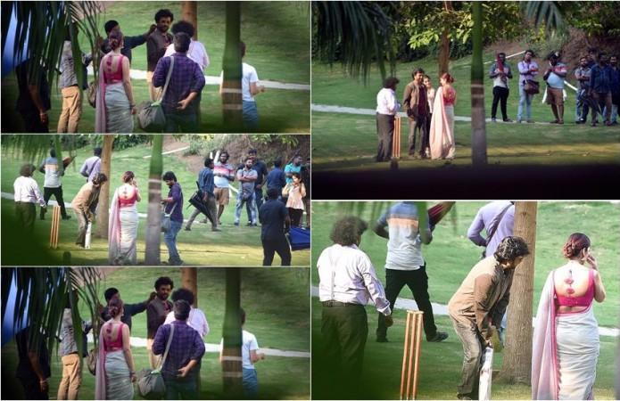 Rajinikanth Plays Cricket on Darbar Sets